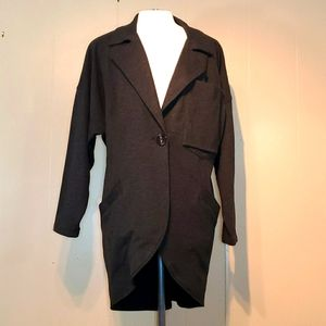 Cabi Smokey Black Big Pockets Longated Blazer